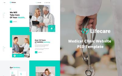 Lifecare - Modelo PSD do site de clínica médica