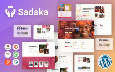 Sadaka - Charity, Donation and Fundraising WordPress Theme