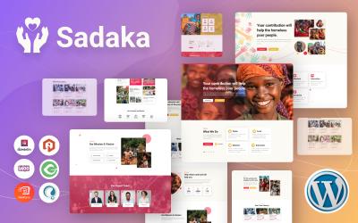 Sadaka - jótékonysági, adományozási és adománygyűjtési WordPress téma