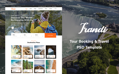 Trandi - Tour Booking Website PSD Template