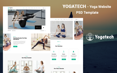 Yoga-bestemmingspagina PSD-sjabloon