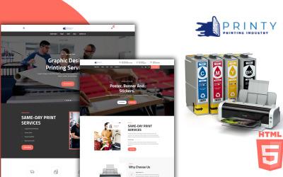Printy - Plantilla HTML5 del servicio de agencia de impresión