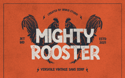 Mighty Rooster - Versatile Vintage Fonts