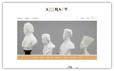 Attract - Art Store Opencart 主题