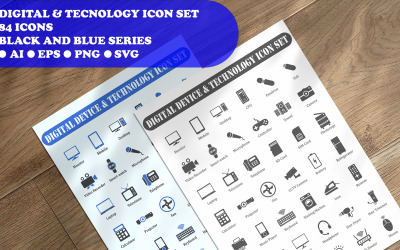 Digital Device And Technology Icon Set
