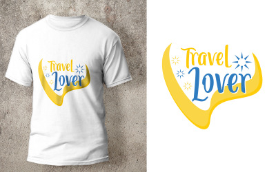 Travel Lover T-Shirt Design Quote Template
