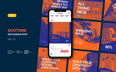 Duotone - Postagem de negócios no Instagram - modelo do Apresentações Google