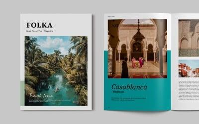Travel Photography Magazine Template