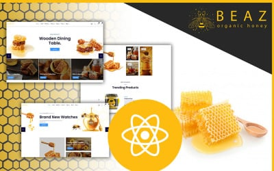 Beaz Honey Production and Sweets Delicious Shop React JS Template