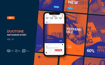 Duotone - Storia di Instagram aziendale - Modello Keynote