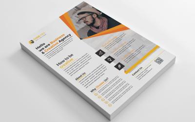 Folheto de Negócios Grátis para Agência Criativa