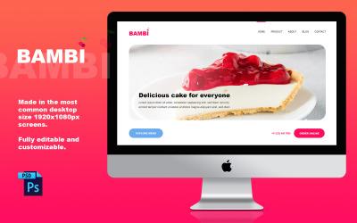 Modelo PSD de design de site de confeitaria