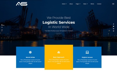 Rakib | Modelo de site de logística HTML5