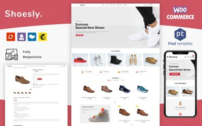 Shoesly - Footwear Shoes & Sports Fashion WooCommerce Template