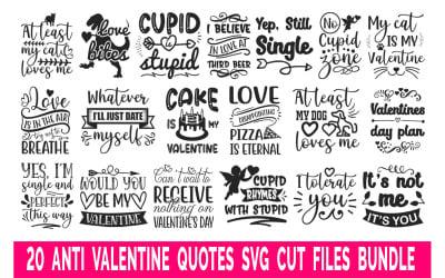 Anti Valentine Quotes Bundle T-shirts