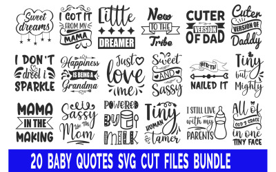 Baby Quotes Bundle T-shirts