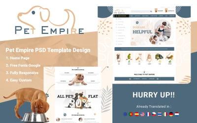 Pet Empire - Pet Shop PSD Template