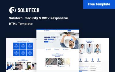 Solutech - CCTV gratuito e modelo de site responsivo à segurança