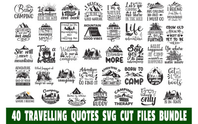 Travelling Quotes Bundle T-shirts