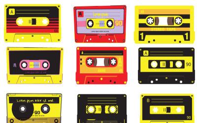 Audio Tape Nostalgia Event Photoshop 动画效果矢量插件