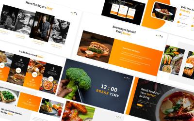 Modello PowerPoint di cibo di strada