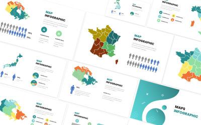 地图信息图表主题演讲模板