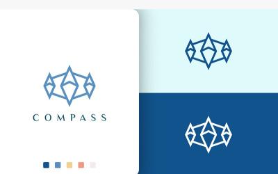Ship or Adventure Logo Compass Shape
