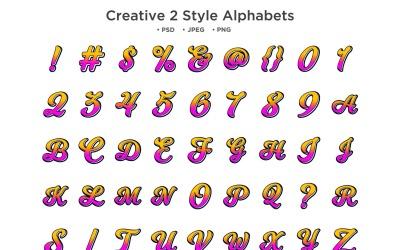 Creative Style Alphabet, Abc Typography