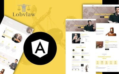 Lobylaw Law Firm Angular JS Website Template