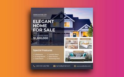 Real estate social media post design template