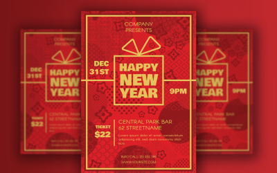 Asian Happy 2022 New Year Poster