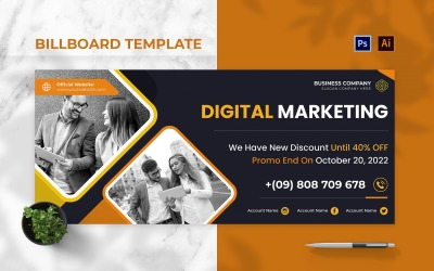 Digital Market Billboard Landscape