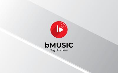 B Letter Music Minimal Logo Design