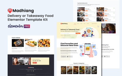 Madhiang - Delivery or Takeaway Food Elementor Template Kits
