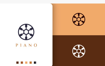 Simple and Modern Piano Community Logo