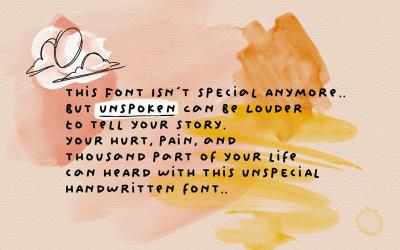 Unspoken - Story Handwritten Fonts