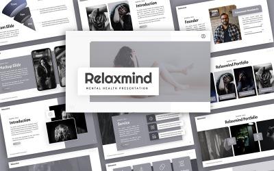 Relaxmind Mental Health Presentation PowerPoint Template
