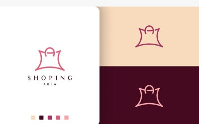 Shopping Bag Logo in Unique and Modern