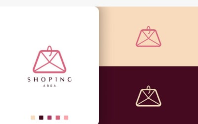 Simple Shopping Bag Logo Template