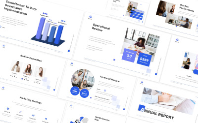 Annual Report Business Google Slides Template