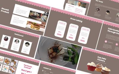Modèle de diapositives Google pour le magasin de pain