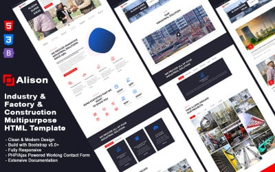 Alison - Industry & Construction & Factory Multipurpose HTML Template