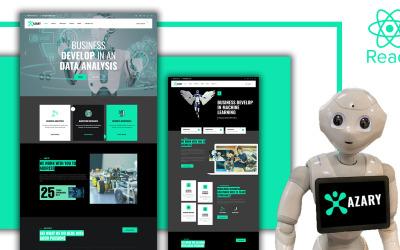 Azary - Robot and AI React Template