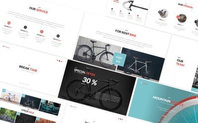 Bicycle Sport Google Slides Template