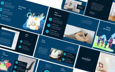 Rollout Blue Powerpoint Template