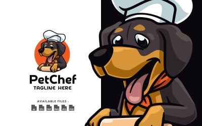 Adorable Pet Chef Cooking Logo