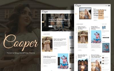Cooper - Personal Blog WordPress Theme