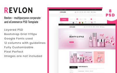 Revlon - Многоцелевой шаблон PSD для корпоративных клиентов и электронной коммерции