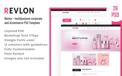 Revlon – Modèle PSD polyvalent pour les entreprises et le commerce électronique