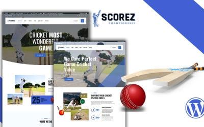 Scorez Cricket WordPress téma